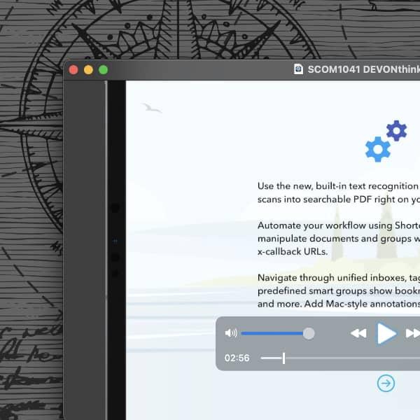 Bildschirmfoto des QuickTime-Players mit einem Video von ScreenCastsOnline.
