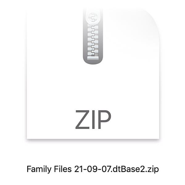 ZIP file of database.